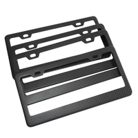 Durable Automobiles & Motorcycles carbon fiber license plate frame