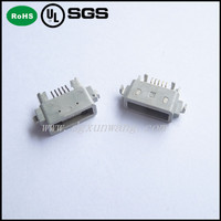 waterproof smt type micro usb 5 pin connector