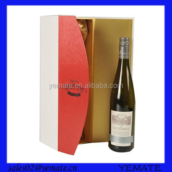 High-end Recycled cardboard material custom printing wine box with magnet closure