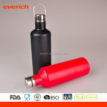 Everich customized color double wall stainless steel drinking wine bottle