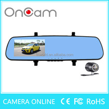 THAI model L851X 4.3inch car rearview mirror with 12.0MP dual lens camera