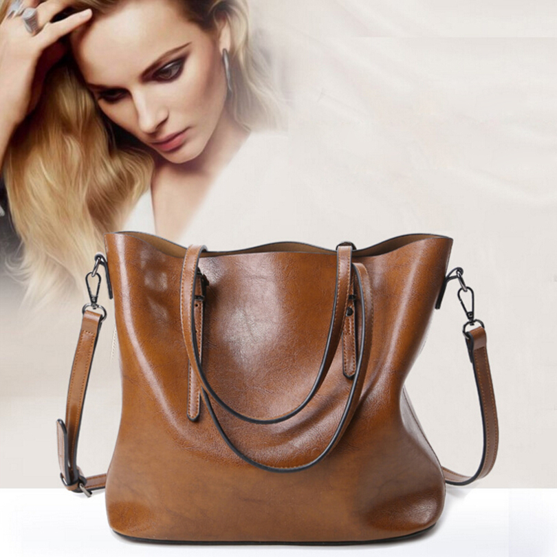 Fashion style leather tote bag soft handbags