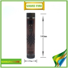 Full mechanical mod electronic cigarette wood vapor mods with 20W