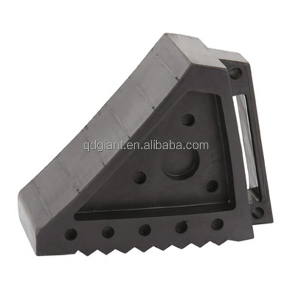standardized production 2kg black rubber chock used in cars