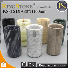 Kingstone KS816 Marble tall pillar candle holders
