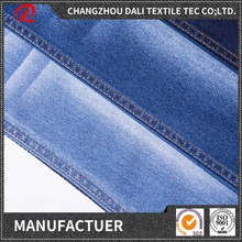 stretch indigo yarn dyed twill knitted denim fabric for jeans