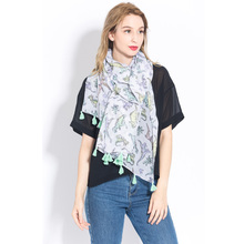 Wholesale Infinity Scarf Custom Print Butterfly Multifunctional Floral Scarf