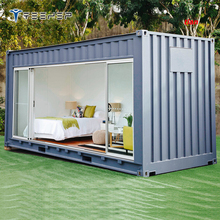 Wooden House/Fast prefabricated lovely small cabin shipping container van house