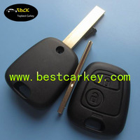Hot sales remote key shell for Peugeot car key blanks NO LOGO peugeot 407 key