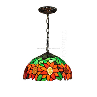 "best quality 12"" tiffany stained glass pendant lamp from factory"