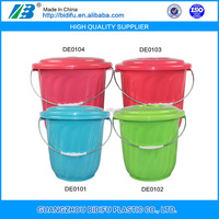 plastic water bucket pail barrel plastic large pail with handle