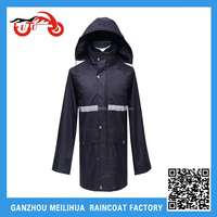 Wholesale 320T Polyester PVC Coated Winter Men Waterproof Bike Rain Poncho With Hood