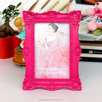Fantastic ornate resin photo picture frame pink