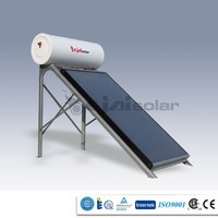 2015 Best quality ,high efficiency and hot sale portable flat panel solar powered water heater for 3-4people household use