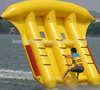 Summer 0.9mm PVC tarpaulin inflatable toys flying fish tube, towable inflatable banana boat