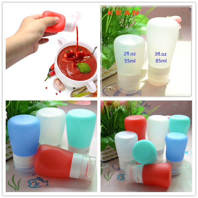 Salad Container/Smart Soft Silicone Travel Tube Leak-proof Dressing Go Squeeze Mini Salad Container