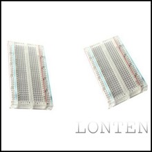 Transparent Mini Breadboard 400 <strong>Points</strong> 83x55mm 83*55 83 X 55