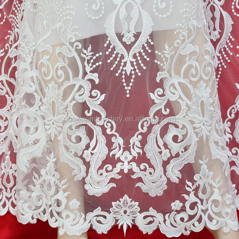 2019 Hot Selling Allover sequin Lace Net Embroidered Fabric Birdal Lace