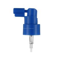 24mm blue plastic oral sparyer medical sprayer for mouth care bottle