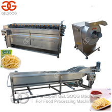 High Efficient French Fries Production Line Crisps Making Machinery Potato Crisp Sticks Making Potato Chips Plant Cost