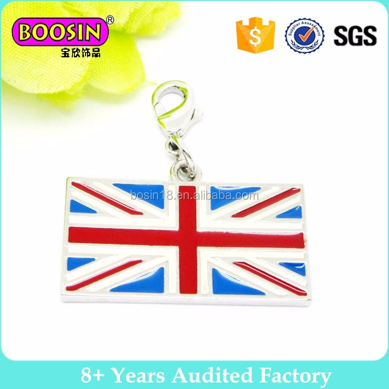 UK Flag United Kingdom Classic Silver Plated Charm