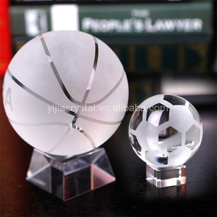 Custom Home Decorations Crystal Souvenir American Football with Base