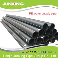 ISO4427 pe 100 water supply UV protection Fire Water underground hdpe pipe