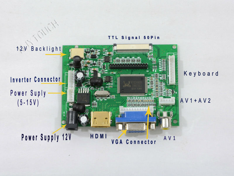 Pcb800099 Vga Av Hdmi Lvds Lcd Controller Board Buy Hdmi