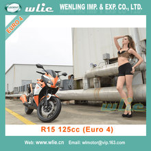 Chinese motocross motorcycles manufactuer gas scooter selling well in burma Racing Motorcycle R15 125cc with Euro 4 EEC & COC