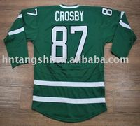 TOP quality team Canada# 87 CROSBY green accept custom free shippingMontreal Canadiens