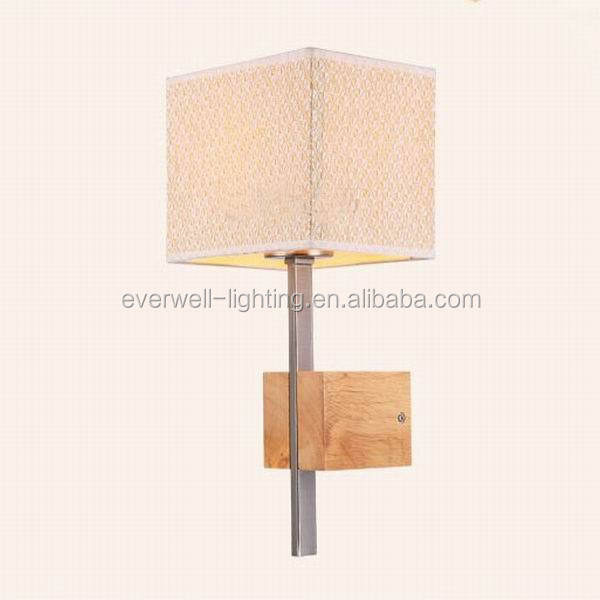residential square wooden wall light fixture