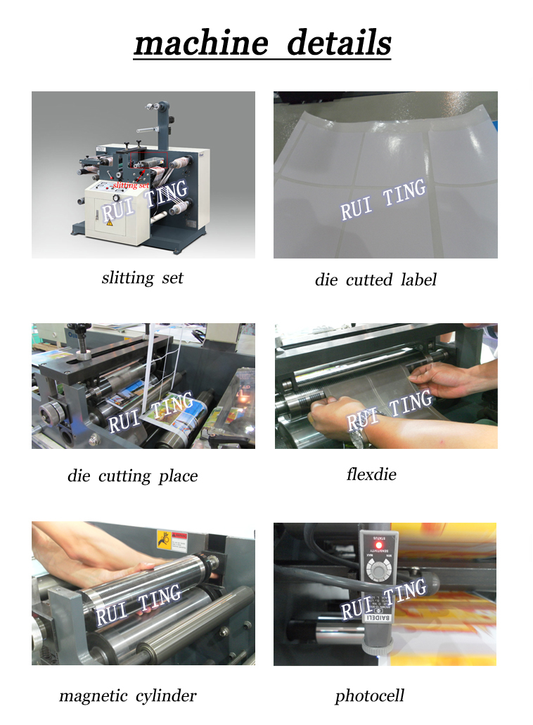 RTQ-320 blank label rotary die cutting machine with slitter for sale in ruian