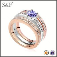 HOT SELLING!!! Newest Style Crystal gents diamond ring design
