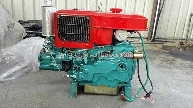 22hp single cylinder hand starting water-cooled auto parts 24T diesel engine