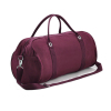 Retro trendy lightweight canvas overnight duffel weekend travel bag, lady weekender shoulder handbag tote duffle travel bag