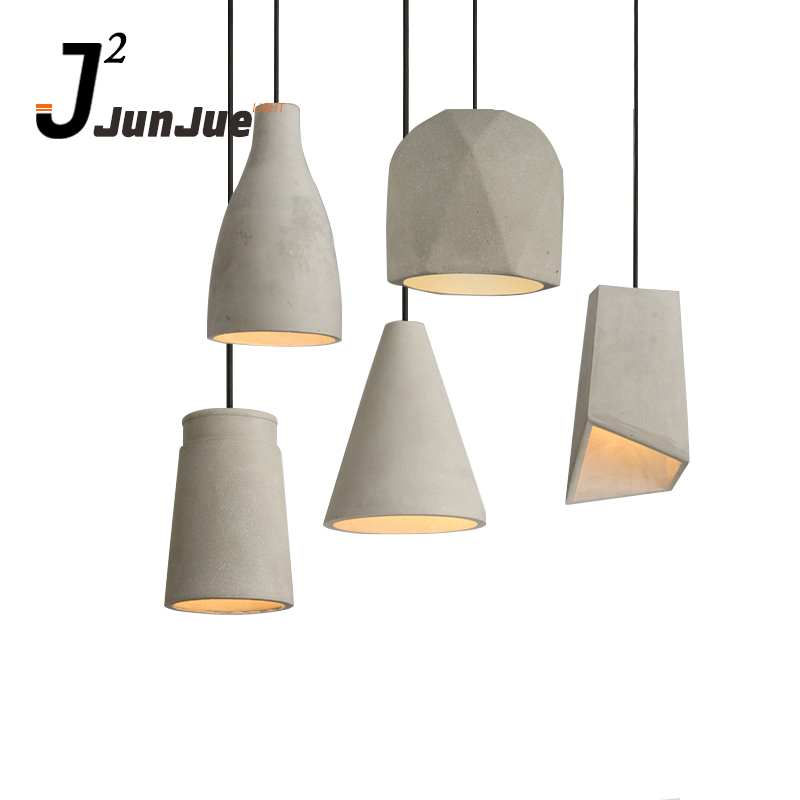 Designer irregular shaped cement concrete chandeliers pendant lights China wholesale