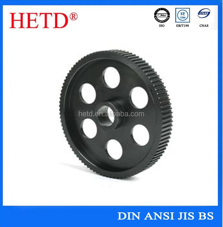 High quality <strong>OEM</strong> black oxide coating/painting with special hole Timing Pulley