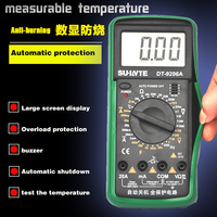 9206 thermometer phone repair tools fully protected LCD display pocket digital multimeter