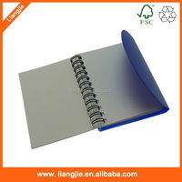 Spiral plastic cover notebook with divided board
