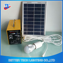 Manufacturer China Solar Power System Home Solar System Mini Portable Can Recharge IPHONE6 Solar Power System 5W
