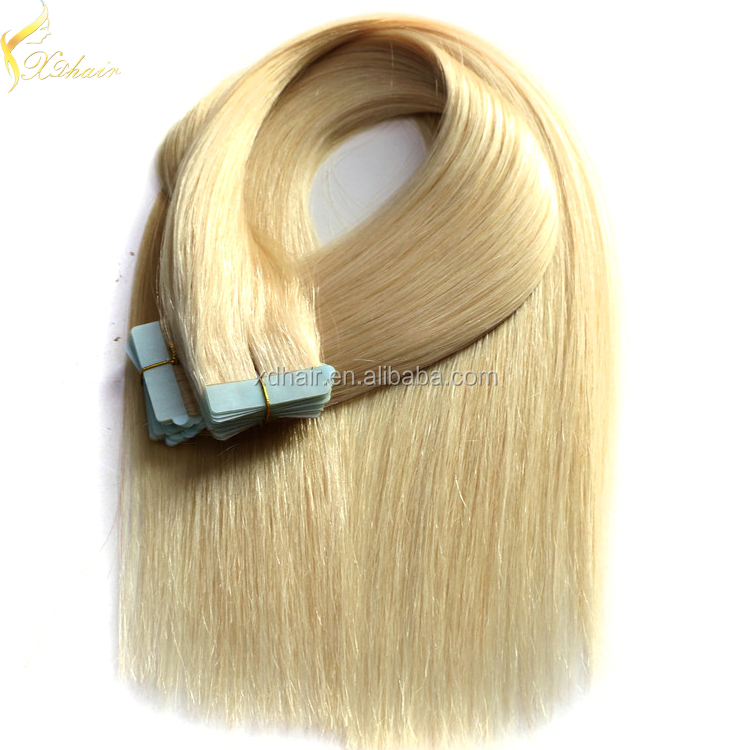 New 2017 fast ship large stock double drawn tape in hair extensions virgin