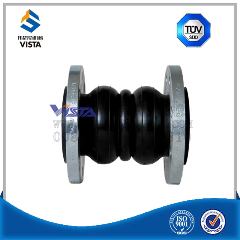 steel flang end neoprene epdm expansion rubber joint/flexible rubber joint
