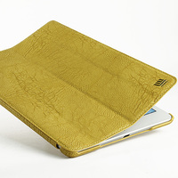 Litchi Grain PU Leather Series Tablet Case Cover for iPad Air YELLOW