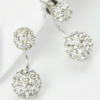Crystal ball earrings Korean version of exquisite ear jewelry Hypoallergenic incense ball fashion earrings