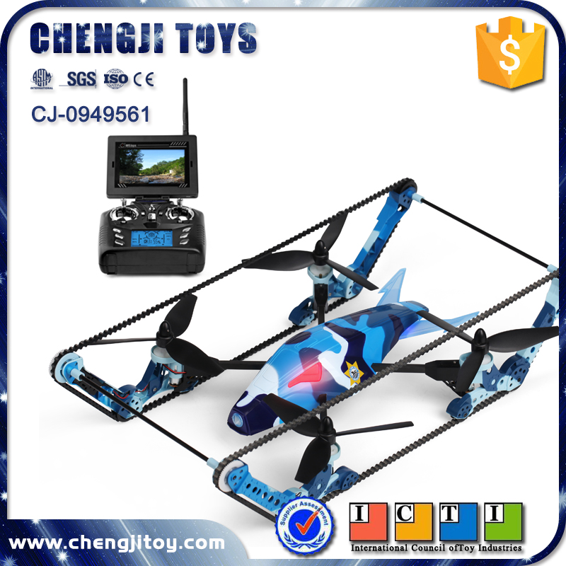 New design rc toys aircraft flying camera electric air and land tank mini sky drone