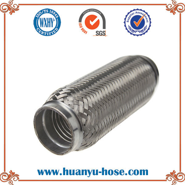 2.5*10 inch double bellow auto exhaust stainless steel pipe
