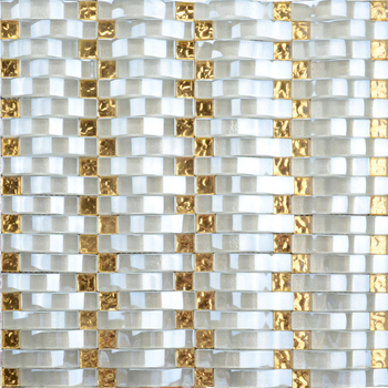 LV004 Foshan wholesale stock glass tile mosaic brick pattern wallpaper