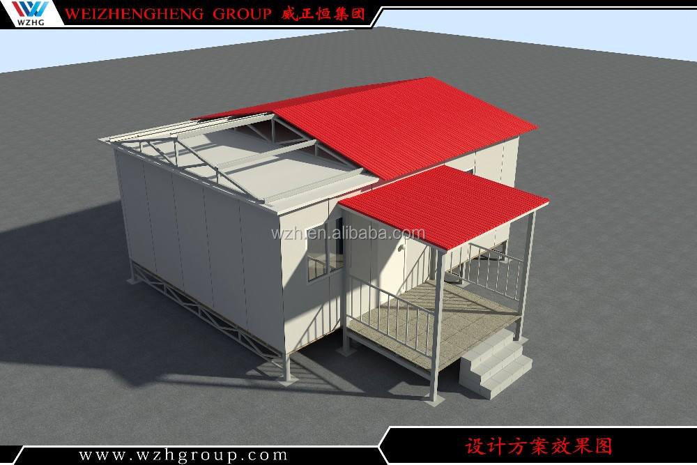 prefabricated house strong villa steel structure