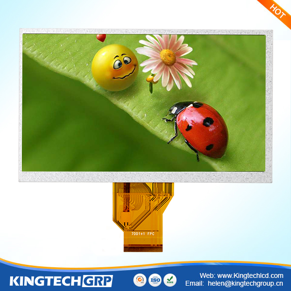50 pin 7 inch touch screen monitor with type rgb interface lcd display