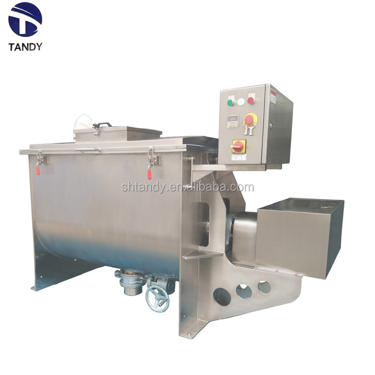 Spraying horizontal ribbon mixing machine / blender mixer for different powder and granule